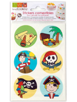 "STICKERS COMESTIBLES, PIRATA ""SCRAPCOO"